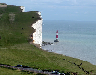 The chalk cliffs of Beachy Head