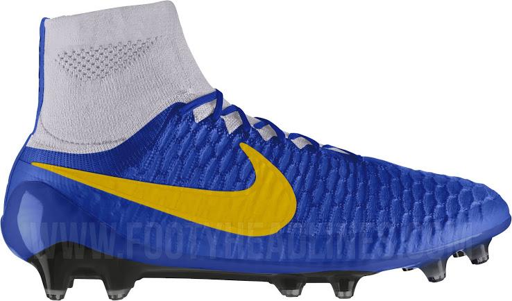 newest d5f68 a417a Chaussure De Foot 2015 Paul Pogba Nike Magista Obra Prix Personnalisé Bleu