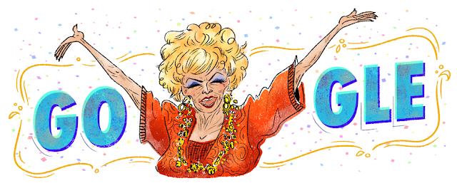 Derçy Gonçalves's 99th birthday - Google Doodle