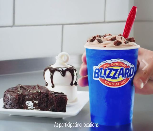 Blizzard Of The Month Chocolate Cake