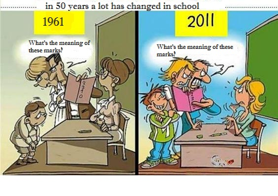 Schools In the Old Days and Now