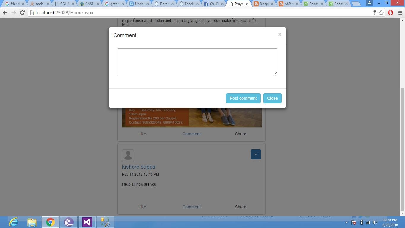 ASP net (Google me: akash02designer): Datalist and bootstrap modal