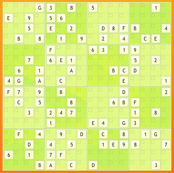 Jumbo Sudoku 16x16 (Expert Level)