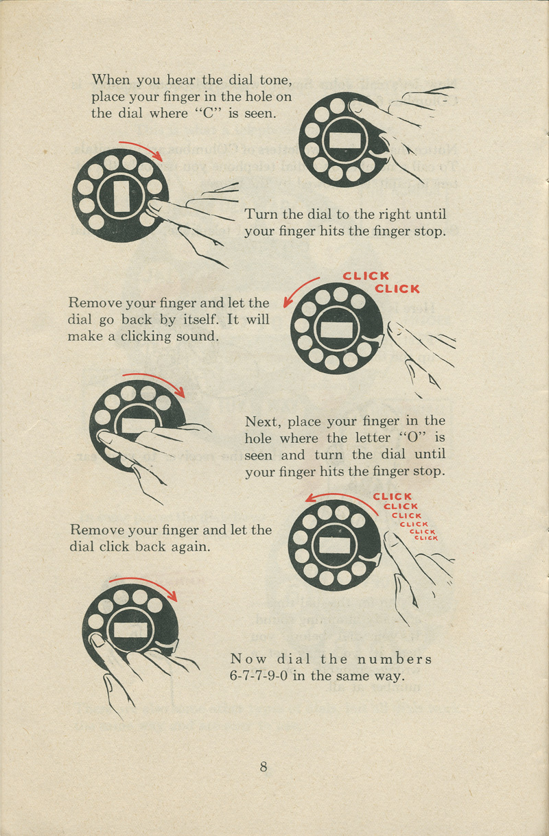 An Excellent Guide For Using Telephone In 1951 Vintage