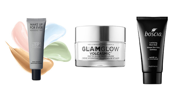 MakeUp Forever Primer, Glamglow Volcasmic Moisturizer, Boscia Luminizing Black Mask, Beauty Blogger, Lifestyle Blogger, College Blogger