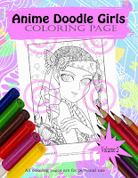 Anime Doodle Girls volume 2