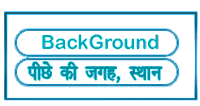 Background meaning in HINDI