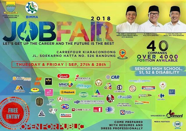 Job Fair Dinasker Kota Bandung 2018 (Gratis)