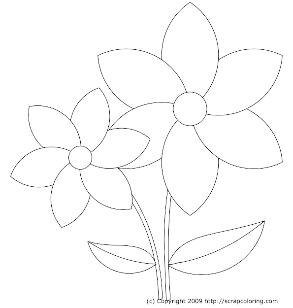 Flowers Rose Windows Coloring Page With Coloring Pages Draw Easy Flowers