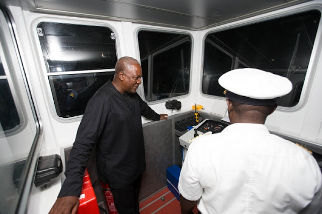 So So Wonder: Mahama commissions two water vessels in E/R tour