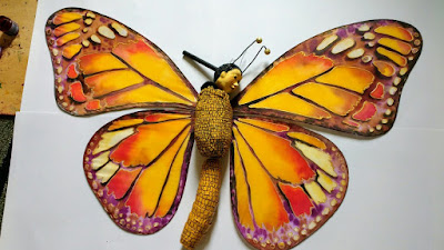 Butterfly puppet-Collaboration between Corina Duyn and Spark Deeley