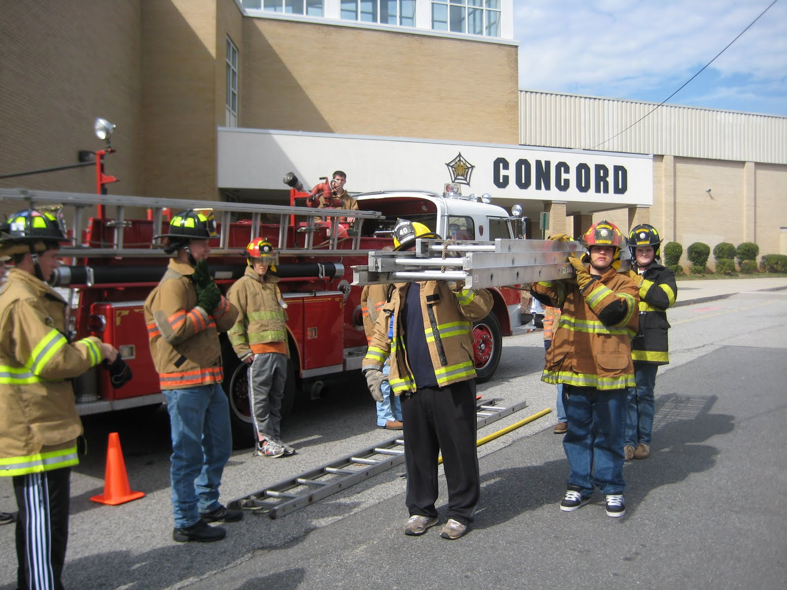 Concord High School Fire Academy Ladder Practicals With