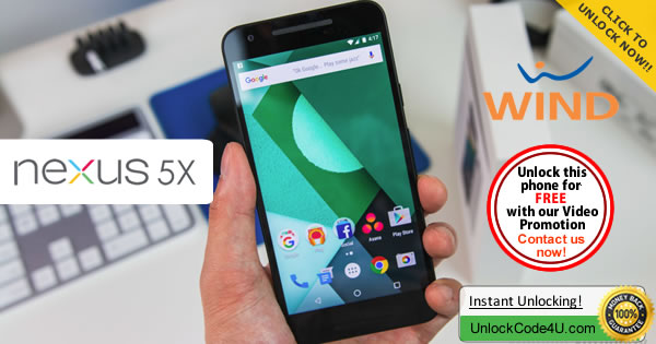 Factory Unlock Code LG Nexus 5x from Wind