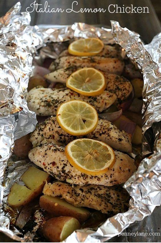 Italian Lemon Chicken Foil Packet