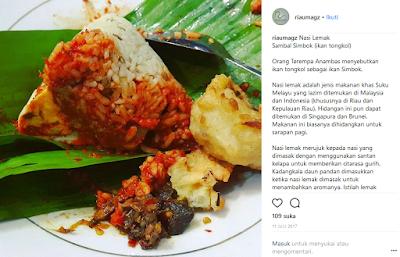 Makanan Melayu Pekanbaru Riau Nasi lemak, nasi kunyit dan nasi dagang