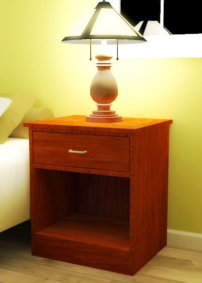 Plywood open nightstand for Simple nightstand designs