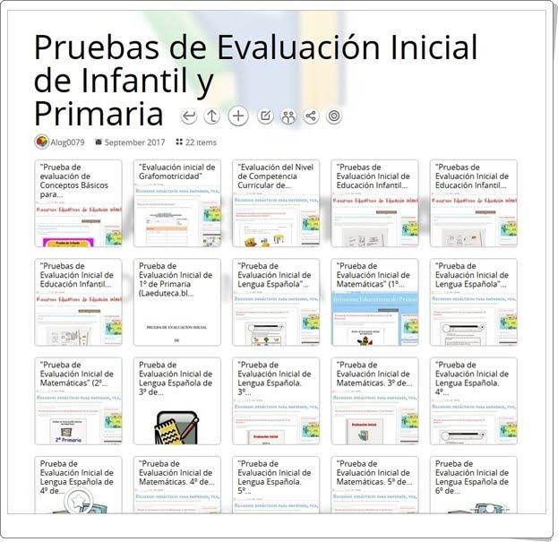"""""""Colección de Pruebas de Evaluación Inicial de Infantil y Primaria"""""""