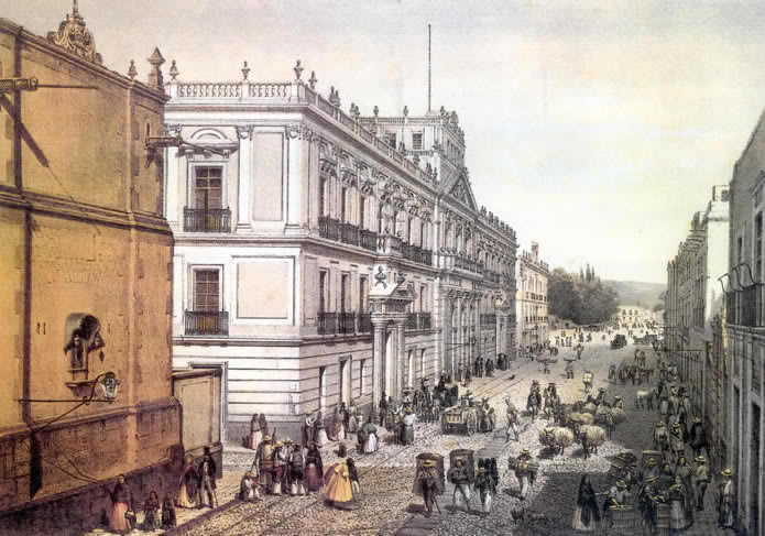 Palacio de mineria, built in Bourbon reforms era