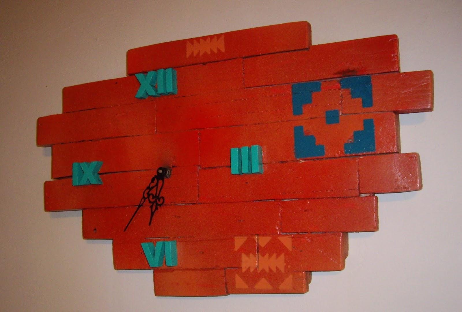 objets d co tutoriels et meubles en bois de palettes horloge murale aux couleurs mexicaines. Black Bedroom Furniture Sets. Home Design Ideas