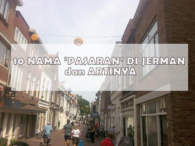 10 NAMA 'PASARAN' di JERMAN