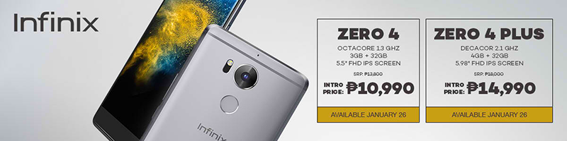 Infinix Zero 4 And Zero 4 Plus Starts At PHP 10990!