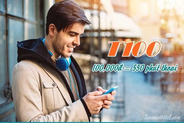 Tận hưởng 550 phút thoại khi đăng ký gói T100 Viettel