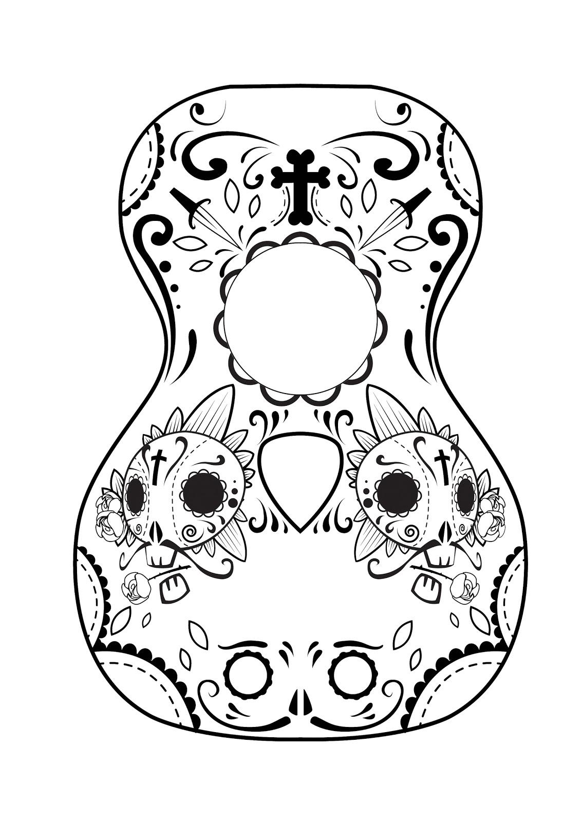 Calavera Mask Coloring Page Coloring Pages