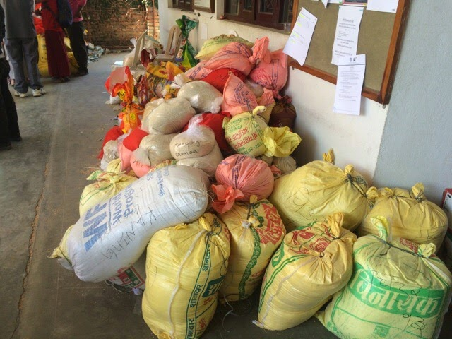 Food for villages in Nepal affected by earthquake