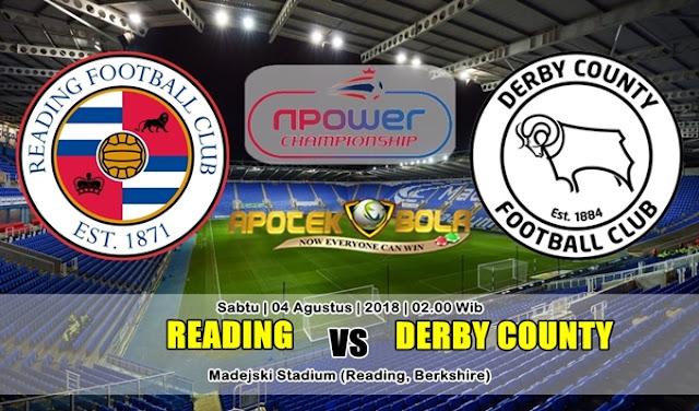 Prediksi Reading vs Derby County 4 Agustus 2018