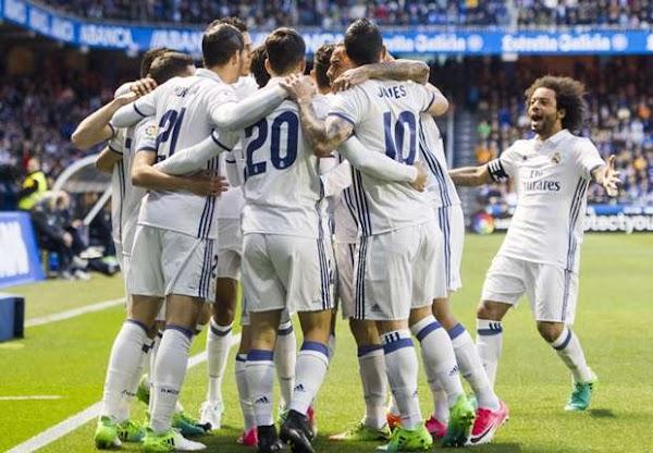El Real Madrid sigue inmerso en la Liga al ganar al Deportivo (2-6)