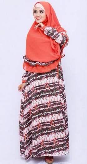 Contoh Desain Busana Muslim Wanita Bahan Sifon