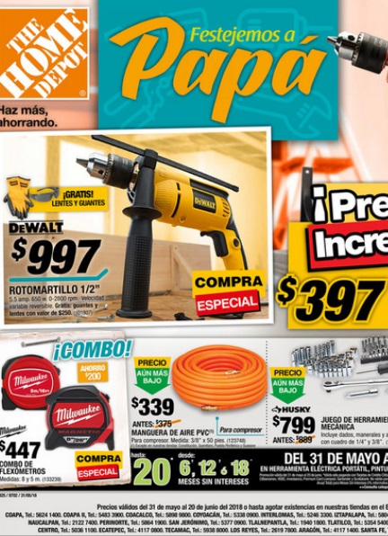 Home Depot Catalogo 2018 Junio Mexico