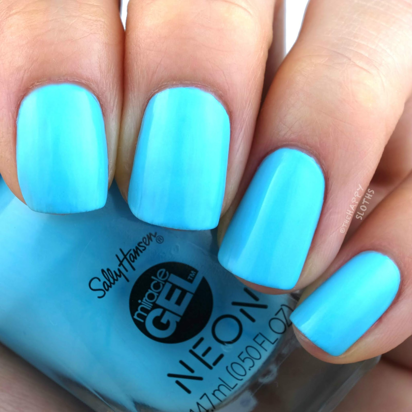 Sally Hansen | Miracle Gel Summer 2019 Neon Collection | Miami Ice: Review and Swatches