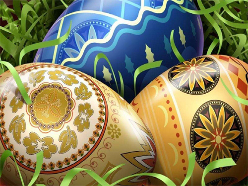 Easter Day Colorful Eggs Wallpaper
