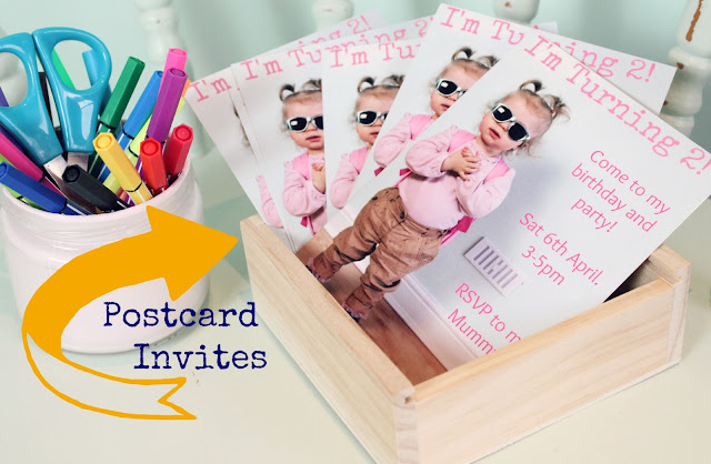 Postcard Invitations | Sprinkle of Glitter