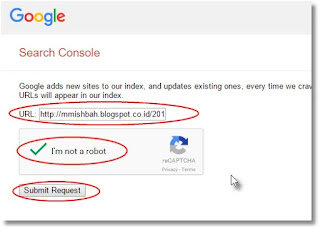 Cara Cepat Tulisan di Index Google dengan Mendaftarkan URL Tulisan Blog Website ke Google