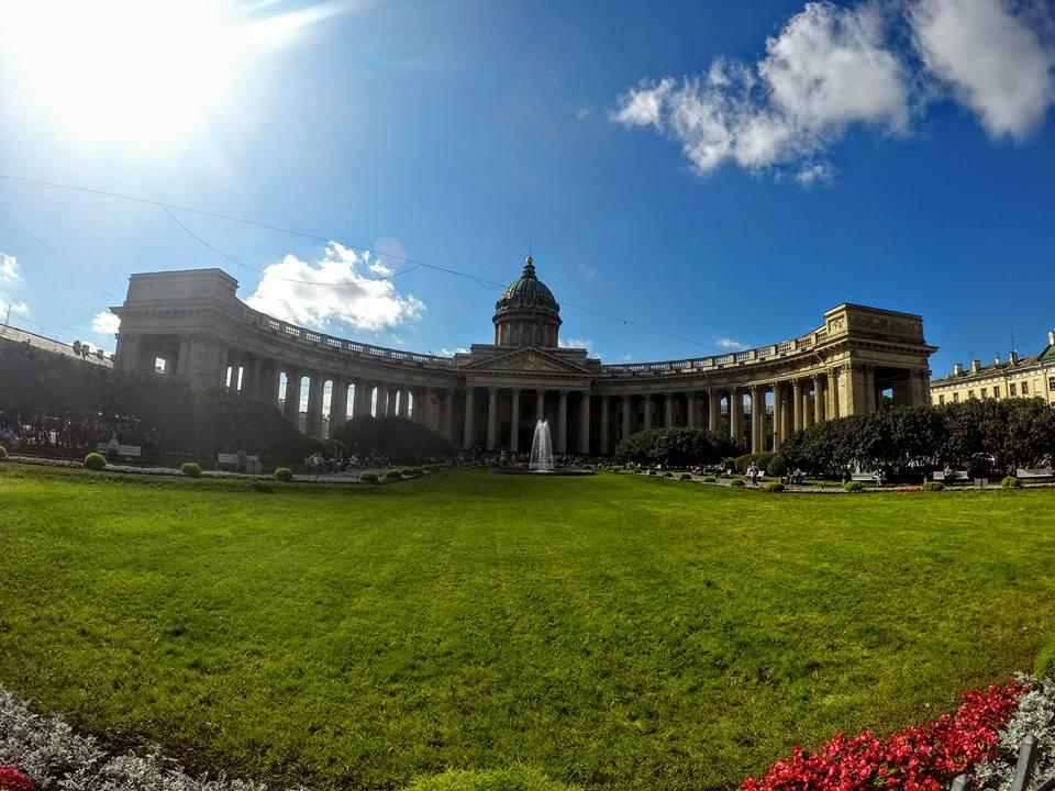 Russie Saint Petersbourg Cathédrale Notre Dame de Kazan