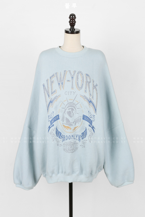 Never Sleeps Oversized Sweatshirt