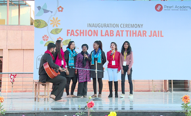 Cultural program performed by the students of Pearl Academy and woman inmates of Tihar Jail at the inauguration of Fashion Laboratory in Tihar Jail