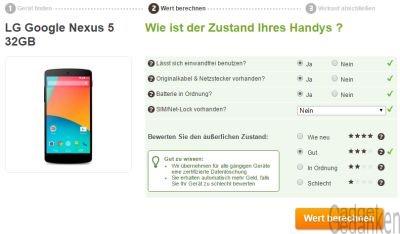 Beurteilung des Gerätezustands auf WirKaufens.de