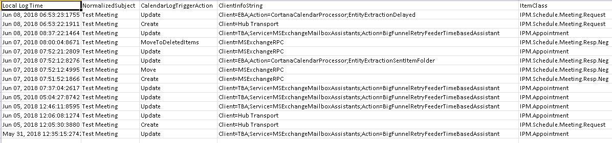 Working with Calendar Logging in Exchange Online