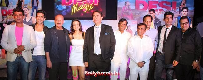 The poster launch of film Desi Magic, Hot Amisha Patel in White Dress at Desi Magic Poster Launch