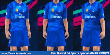 32f13870a Real Madrid EA Sports Special 4th Kit 2018 19 PES 2014 PSP (PPSSPP)