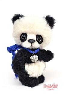 Artist teddy panda, ooak panda bear, handmade panda, NatalKa Creations, teddies with charm, Teddys, Teddy Panda, Panda Bär