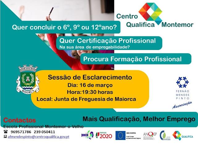 Centro Qualifica Montemor promove sessão de esclarecimento em Maiorca