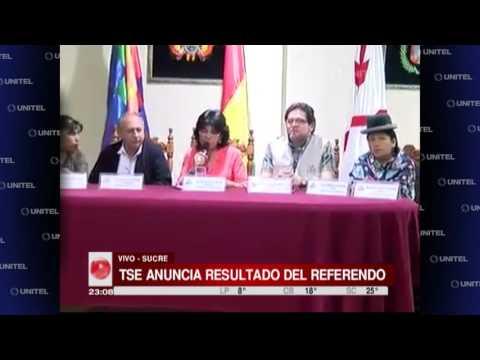 VIDEO: EL 'NO' GANÓ EL REFERENDO EN BOLIVIA CON EL 51.31%