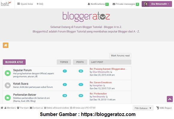 Forum Blogger - BloggerAtoZ.com