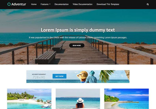 Adventur Free Blogger Theme