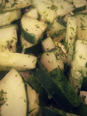 A Summer Solstice Dinner Party 2018: Cucumber Dill Salad