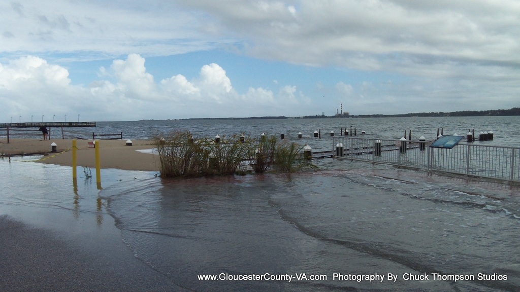 We Have Taken A Number Of Photos Both Here At The Gloucester Point Beach As Well Yorktown Showing How High Waters Came Up